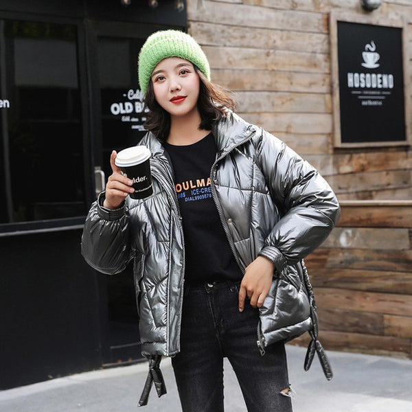 2020 Winter Women's Parka  Women's  Collection Warm Jacket Coat Winter Windproof Stand-Up Collar