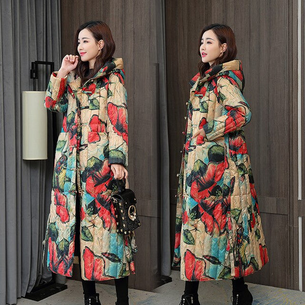 Brands New Winter Collection Jacket 2020 Stylish Windproof Female Coat Womens Quilted Coat Jackets Long Warm Parkas Tops X-Long