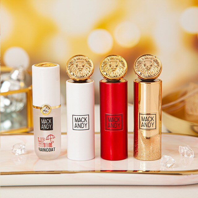 Golden Lion Raincoat Lipstick Makeup Set Velvet Matte Pigmented Long Lasting Smooth Moisturizing Cover Lip Lines Beauty Cosmetic