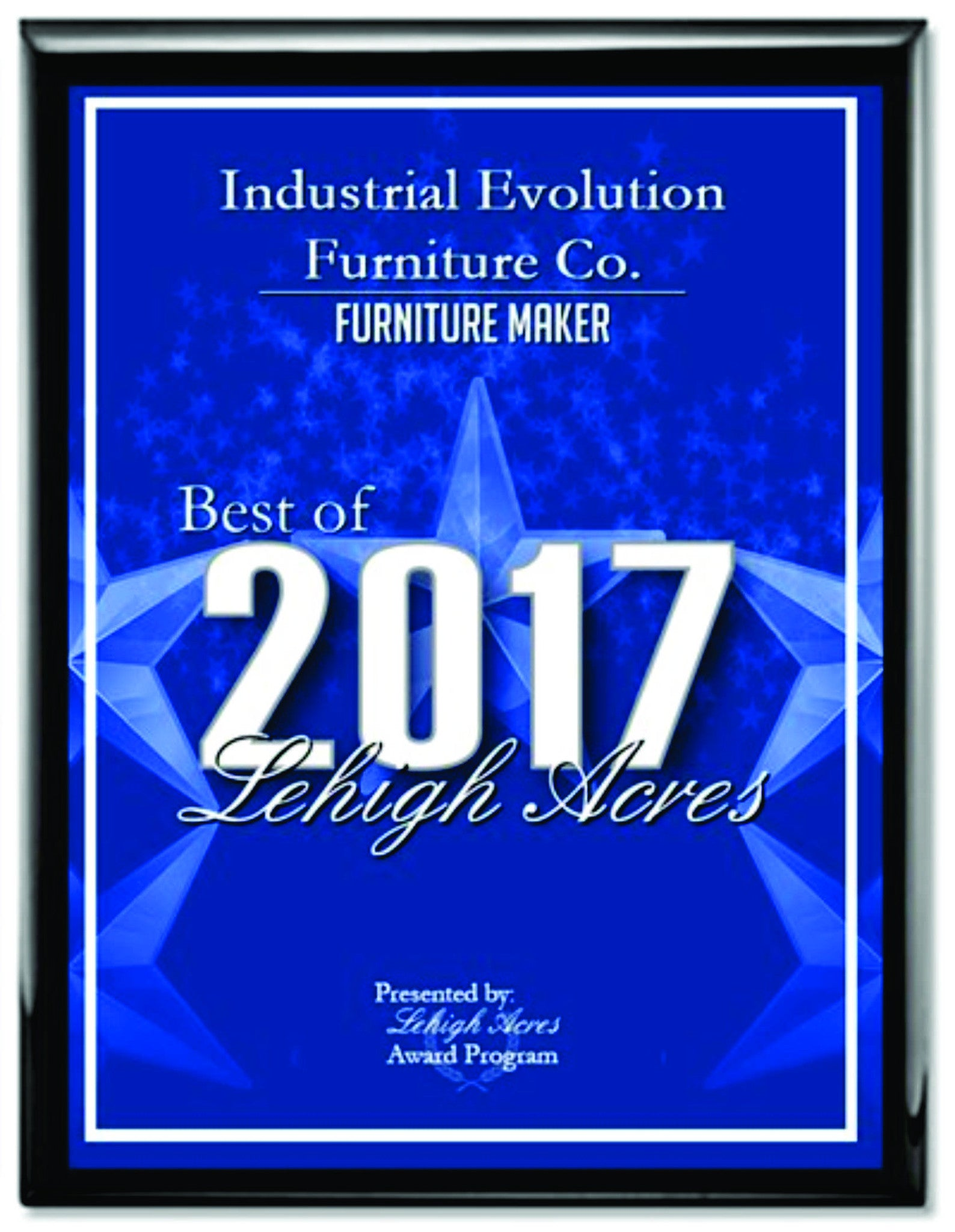 Voted BEST Furniture Maker again in 2017