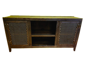 Vintage Console - Front View - IndustrialFurnitureCo.com