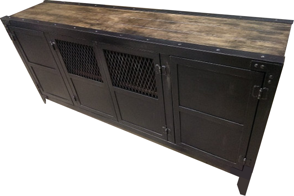 The Classic Vintage Industrial Media Console