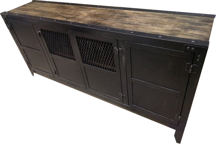 "#008 - Vintage Industrial Media Console ""The Classic"""
