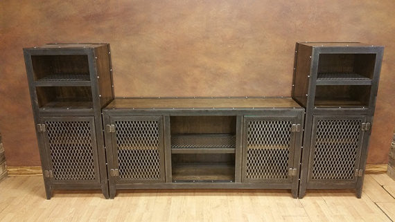 #013 - Vintage Industrial Entertainment Center