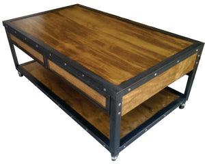 Industrial Coffee Table Top View by www.IndustrialFurnitureCo.com