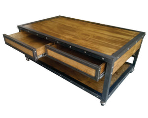 Industrial Coffee Table Drawers by www.IndustrialFurnitureCo.com
