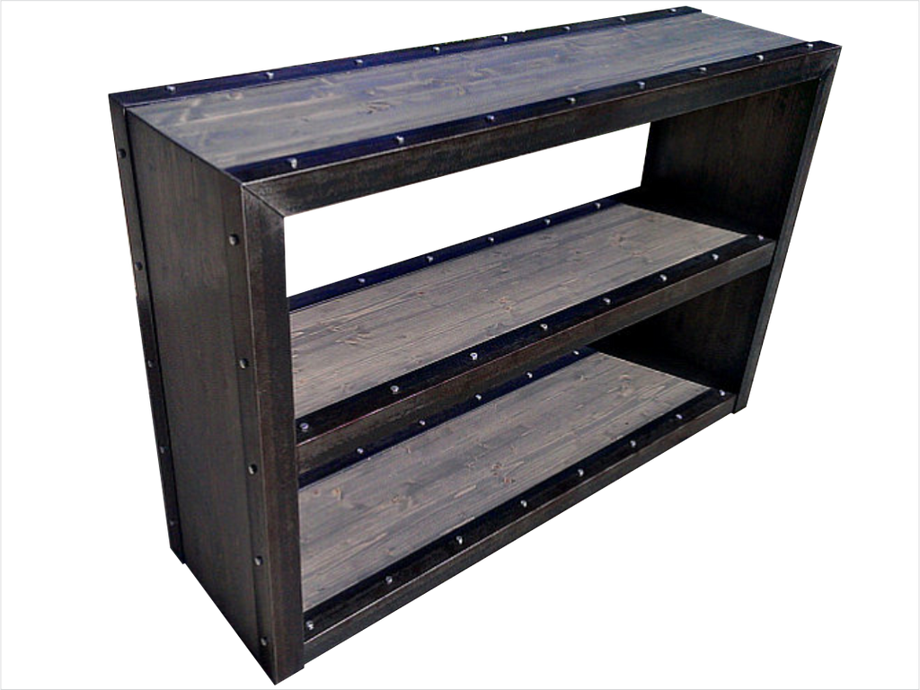 Modern Industrial Bookcase - Front View