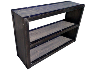 Industrial Modern Style Bookcase Reclaimed Wood Bookcase
