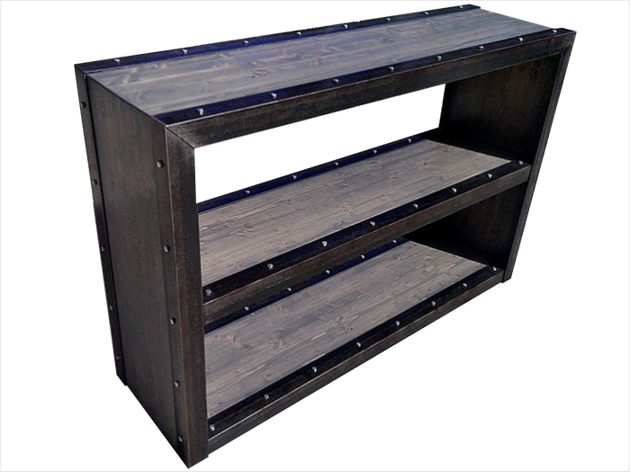 #024 - Modern Industrial Bookcase