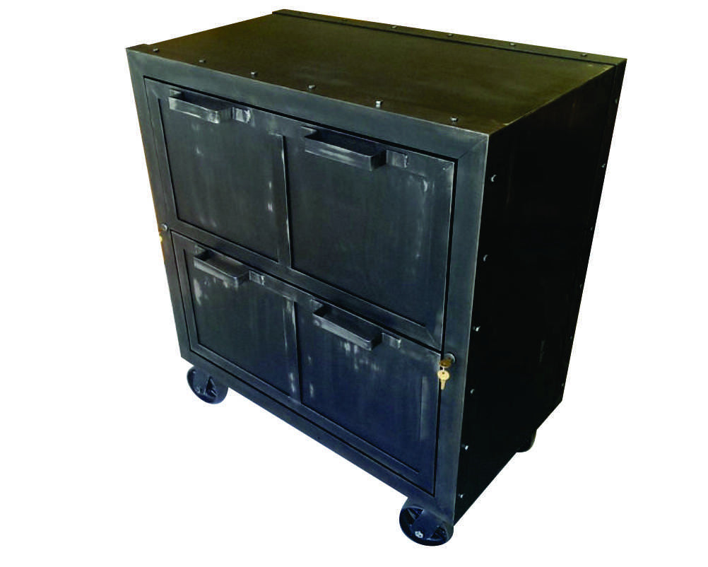 - Industrial Mobile Lateral File - Front View - IndustrialFurnitureCo.com