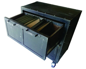 - Industrial Mobile Lateral File - Top Drawer View - IndustrialFurnitureCo.com