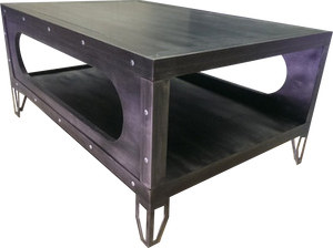 Industrial Gun Metal Table