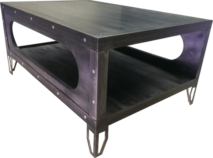 #029 - Industrial Gun Metal Coffee Table