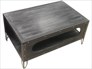 Industrial Gun Metal Table - Top