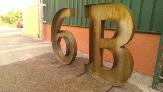 #035 - Giant Metal Marquee Letters