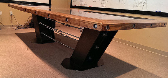 Conference Table - Bottom View - IndustrialFurnitureCo.com