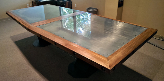 #040 - Wood Boardroom Table