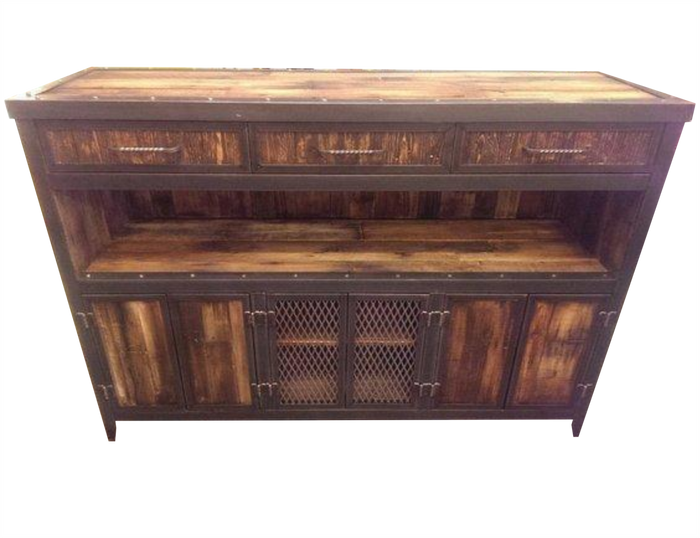 #043 - Rustic Industrial Media Console