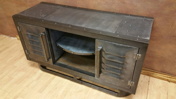 The Steel Industrial Urban Media Console | Industrial Evolution Furniture  Co.