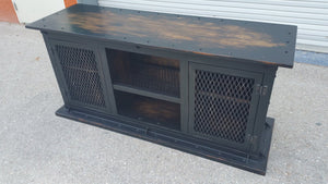 "#052 - Industrial Media Console Cabinet ""Ashmore"""