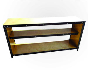 Vintage Industrial Media Console/Bookcase - Front View