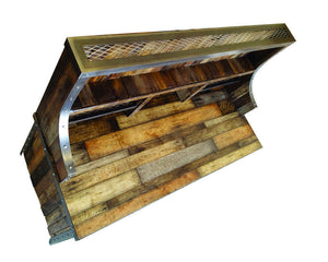 Industrial Reclaimed Wood Desk with Hutch - Top View