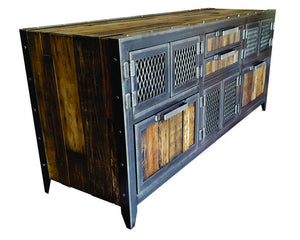 Vintage Credenza / Buffet - Side View - IndustrialFurnitureCo.com