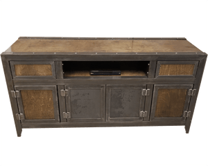 The Bronson modern industrial media console, entertainment center, credenza