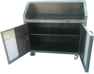 Industrial Bar Cart - Front View Open