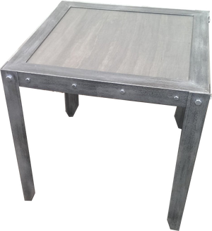 Industrial Vintage Weathered Side Table Front in Jacobean by Industrial Evolution Furniture Co