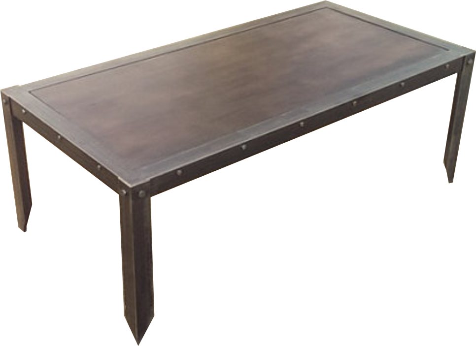 Modern Industrial Coffee Table - Side View