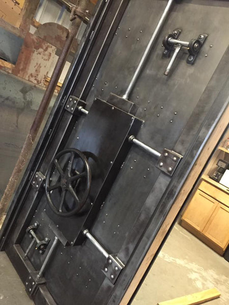 027st Custom Vintage Industrial Vault Door Industrial