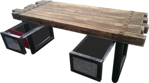 Minimalist Rustic Desk by Industrial Evolution Furniture Co