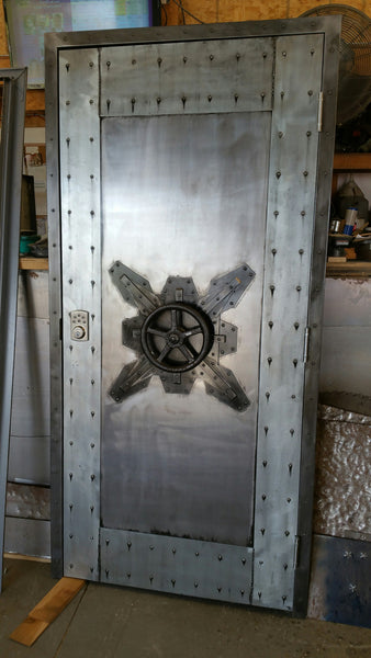 027f Custom Vintage Industrial Faux Vault Door