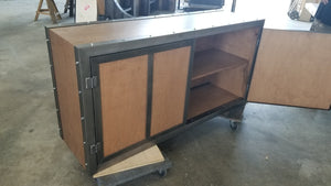 Weathered Industrial Credenza Cabinet