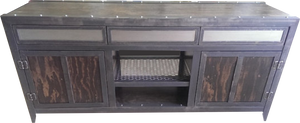 Industrial Console with Drawers front view