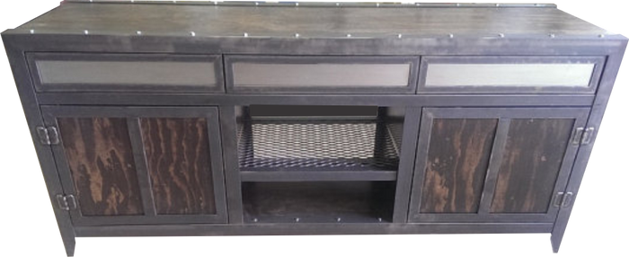 #006 - Industrial Console with Drawers