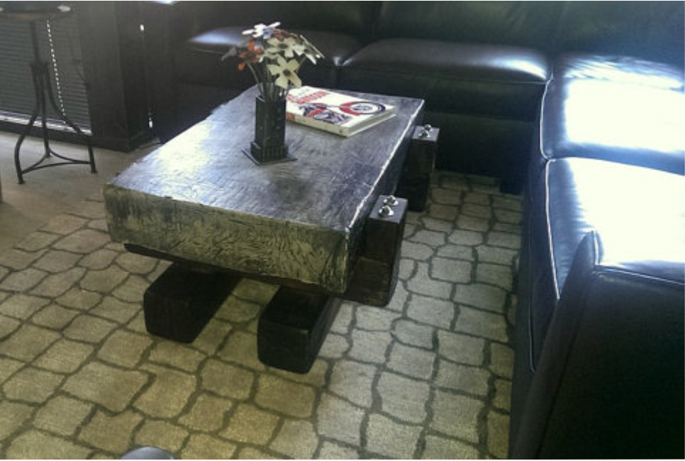 Concrete Slab Coffee Table by Industrial Evolution Furniture Co