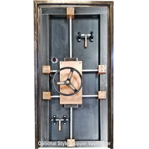 #027ST - Custom Vintage Industrial Vault Door • Industrial Evolution Furniture Co.