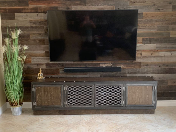 #001 - Modern Industrial Media Console