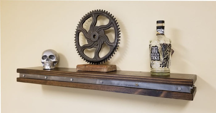 #S001 - Vintage Industrial Floating Shelf - Rustic Wall Shelves