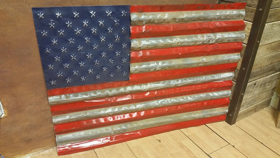#F001 - Salvaged Metal American Flag