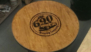 #030 - 55 Gallon Drum Industrial Pub Table