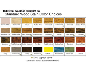 IEFCo.'s standard stain color chart