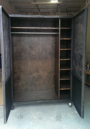 Industrial Wardrobe - Inside View - IndustrialFurnitureCo.com