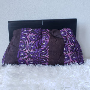 Adire Wood Frame Ankara Clutch