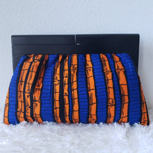 Load image into Gallery viewer, Ankara Wood Frame Ankara Clutch