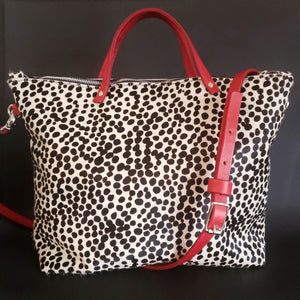 Mfonobong - Hair-on Leopard Tote Bag