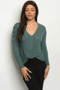 Women's Hunter Green Top