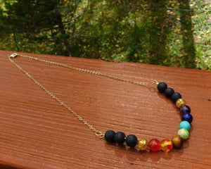 7 Chakra Necklace in Gold Filled or Sterling Silver